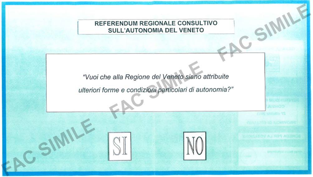 Referendum, finalmente si riparla di autonomia