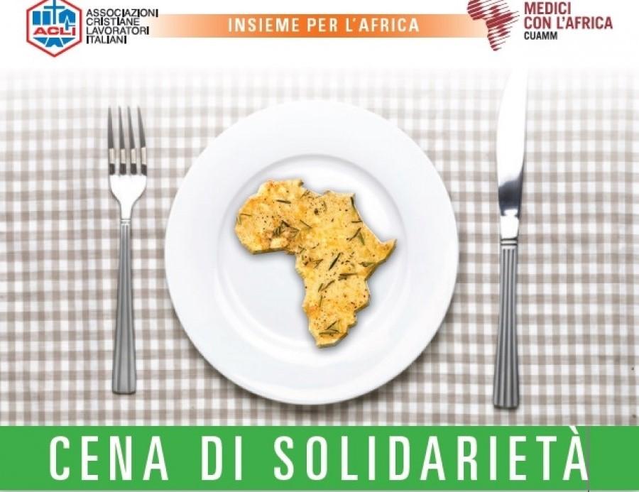 Le Acli provinciali di Vicenza al Centro civico di Giavenale (Schio) servono la solidarietà con il Cuamm
