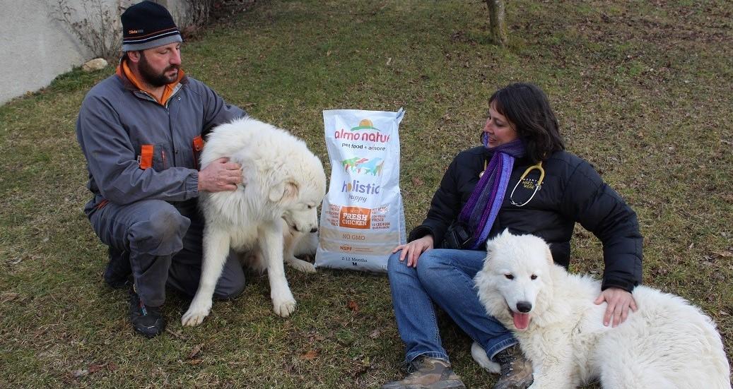 consegna crocchette con veterinaria