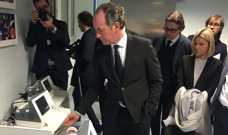 """A Cittadella nuove apparecchiature. Zaia: """"Investiamo anche se la burocrazia ci fa spendere il 20 per cento in più"""