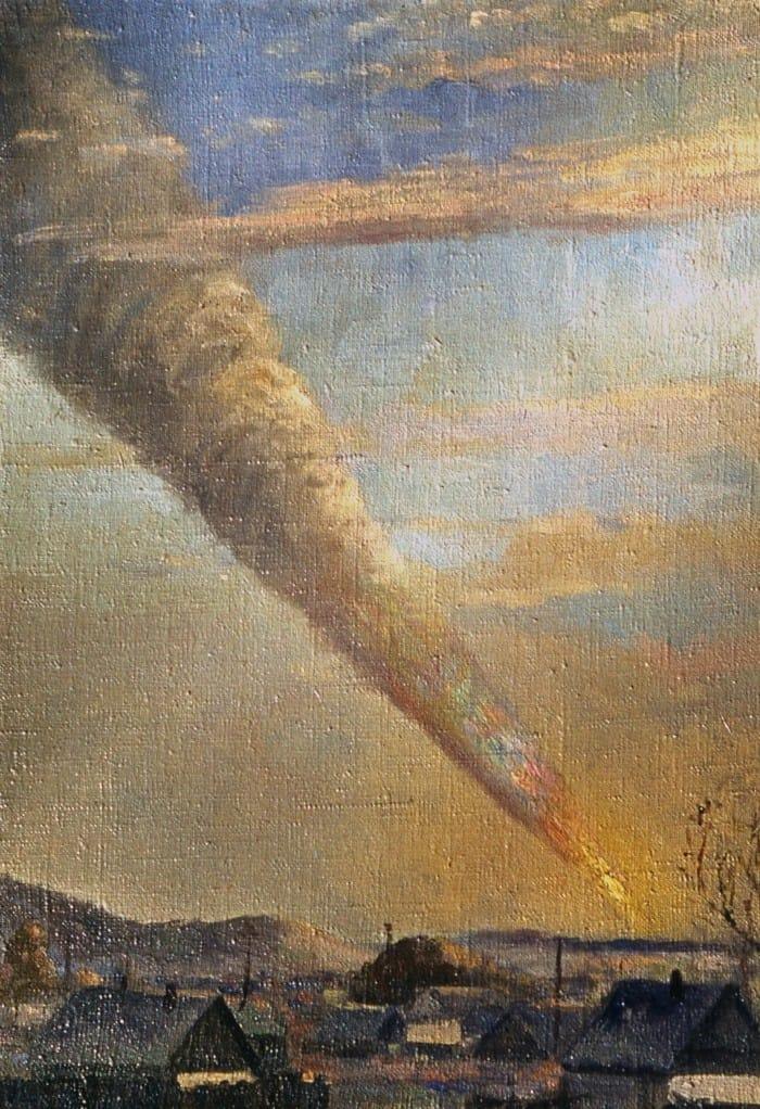 meteorite dipinto Medvedev