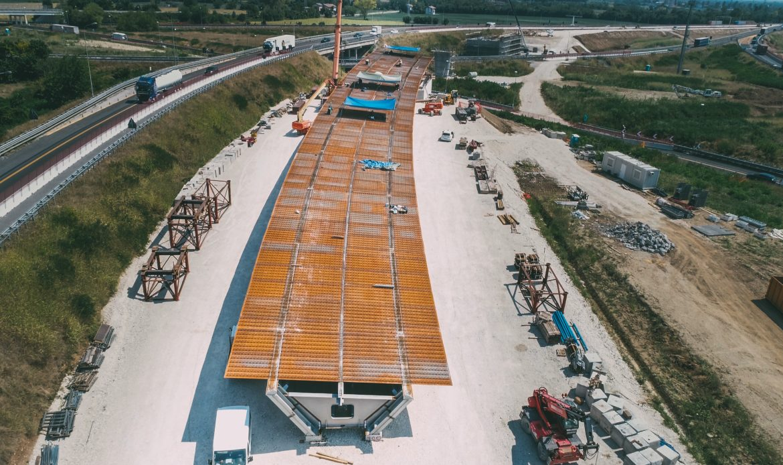 Prossima settimana il varo del nuovo ponte sul nodo di Palmanova, lungo la direttrice Trieste – Venezia