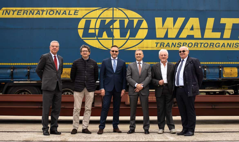 Inaugurato il treno intermodale Cervignano – Rostock in Germania con l'avvio di tre coppie di treni settimanali