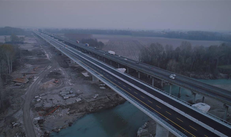 Aperto il primo dei due nuovi viadotti sul fiume Tagliamento lungo la Trieste – Venezia