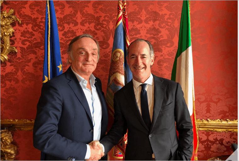 Il nuovo rettore dell'Università di Verona Nocini ricevuto da Zaia