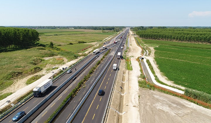 Traffico ancora in consistente calo sulla rete autostradale gestita da Autovie Venete