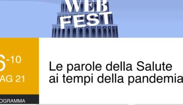 """Salute Web Fest, """"Le parole della Salute ai tempi della pandemia"""": 5 giorni, 40 appuntamenti"""